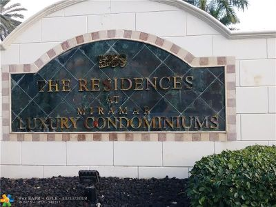 Miramar Condo/Townhouse For Sale: 2240 E Preserve Way #303