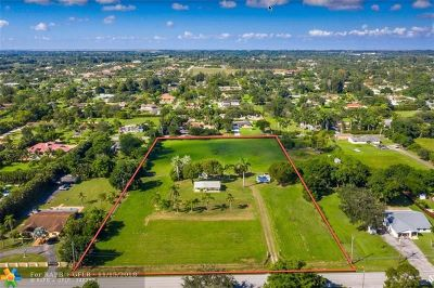 Southwest Ranches Residential Lots & Land For Sale: 5501 SW 160th Ave