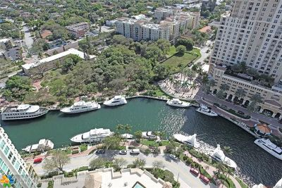 Fort Lauderdale Condo/Townhouse For Sale: 347 N New River Dr #PH-7