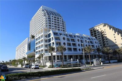 Fort Lauderdale Condo/Townhouse For Sale: 551 N Fort Lauderdale Beach Blvd #H1406
