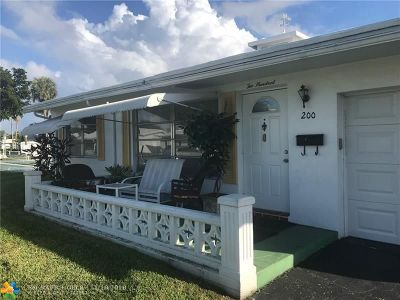 Pompano Beach Single Family Home For Sale: 200 NW 29th Ct