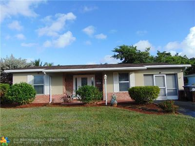 North Lauderdale Single Family Home For Sale: 6471 SW 7th Pl