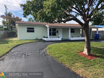 Pompano Beach Single Family Home For Sale: 2931 NE 7th Ter