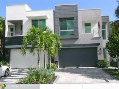 Fort Lauderdale Condo/Townhouse For Sale: 838 NE 14th Ave #.