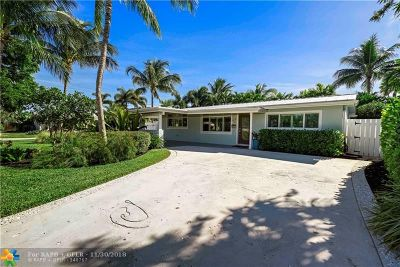 Oakland Park Single Family Home For Sale: 3481 NE 17th Ter