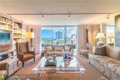 Fort Lauderdale Condo/Townhouse For Sale: 777 E Bayshore Dr #904