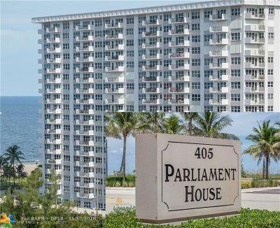 Pompano Beach Condo/Townhouse For Sale: 405 N Ocean Blvd #1907