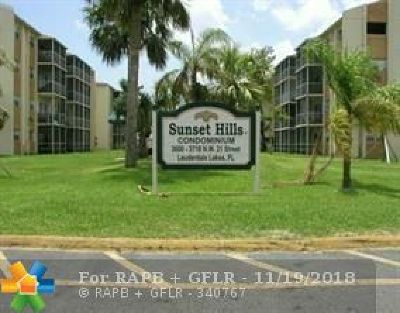 Lauderdale Lakes Condo/Townhouse For Sale: 3710 NW 21st Street #110