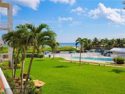 Pompano Beach Condo/Townhouse For Sale: 1300 N Ocean Blvd #205
