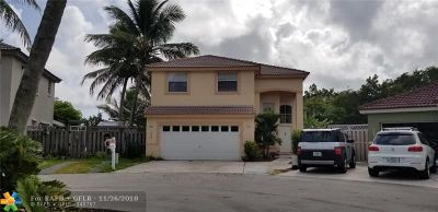 Margate Single Family Home For Sale: 3050 W Buena Vista Dr