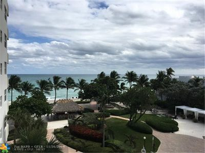 Hollywood Condo/Townhouse For Sale: 3001 S Ocean Dr. #413