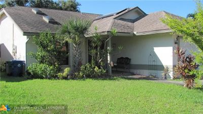 Coral Springs Single Family Home For Sale: 2472 NW 95th Way