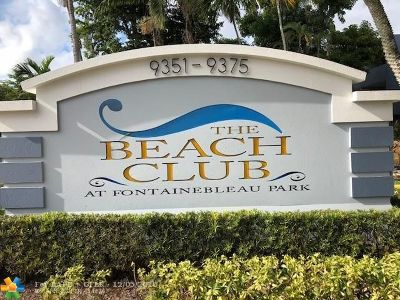 Miami Condo/Townhouse For Sale: 9359 Fontainebleau Blvd #F-419