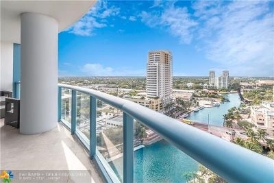 Fort Lauderdale Condo/Townhouse For Sale: 333 Las Olas Way #1802