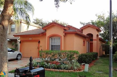 Coconut Creek Single Family Home For Sale: 4936 Egret Pl