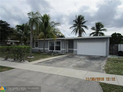 Pompano Beach Single Family Home For Sale: 1250 NE 40th St