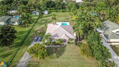 Davie Single Family Home For Sale: 14571 SW 17th Ct