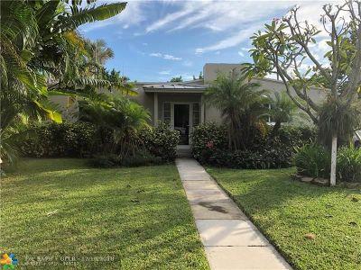 Fort Lauderdale Single Family Home For Sale: 1630 NE 17th St