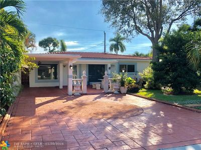 Oakland Park Single Family Home For Sale: 4770 NE 4th Ave