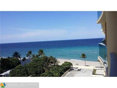 Hollywood Condo/Townhouse For Sale: 2501 S Ocean Dr #704