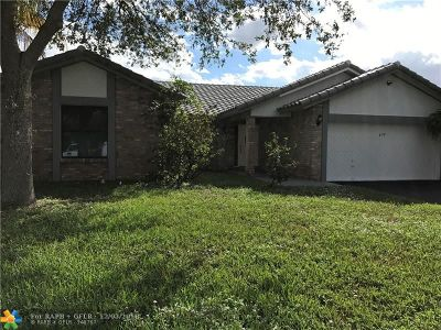 Coral Springs Single Family Home For Sale: 477 NW 113th Ter