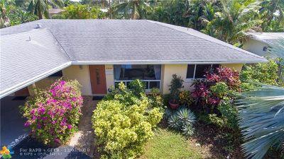 Wilton Manors Single Family Home For Sale: 2300 NE 15