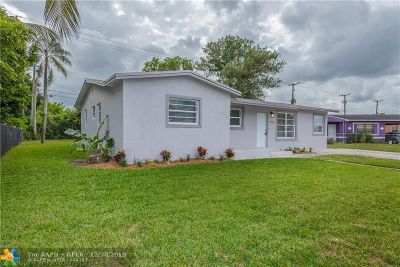 Lauderhill Single Family Home For Sale: 3430 NW 1st St