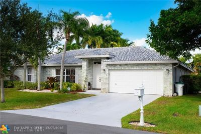 Coconut Creek Single Family Home For Sale: 3913 NW 55 St