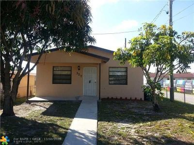 Hallandale Single Family Home For Sale: 327 NW 1st Ave