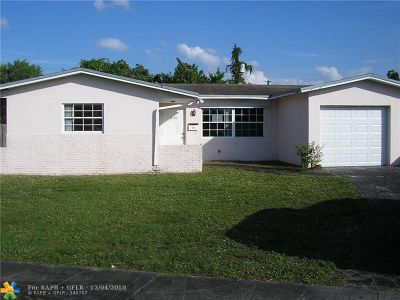 Sunrise Single Family Home For Sale: 1400 NW 58th Ter