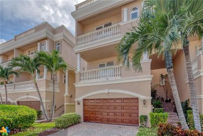 Pompano Beach Condo/Townhouse For Sale: 1756 Bay Dr #1756
