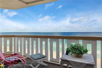 Pompano Beach Condo/Townhouse For Sale: 1012 N Ocean Blvd #1601