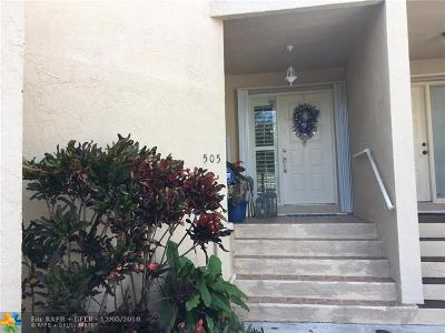 Deerfield Beach Condo/Townhouse For Sale: 505 NW 36th Ave #505