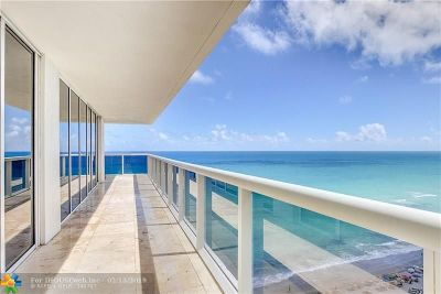 Hallandale Condo/Townhouse For Sale: 1830 S Ocean Dr #1702