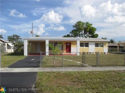 Pompano Beach Single Family Home For Sale: 4100 NW 3rd Way