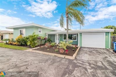 Oakland Park Single Family Home For Sale: 4781 NE 4th Av