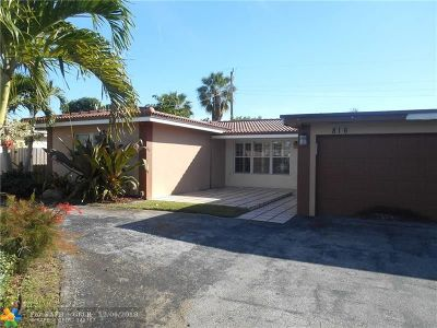 Wilton Manors Single Family Home For Sale: 816 NW 30th St