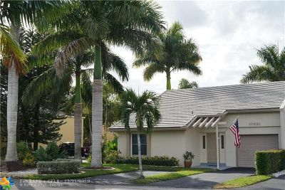 Coral Springs Single Family Home For Sale: 10691 La Placida Dr