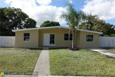 Pompano Beach FL Single Family Home For Sale: $259,000