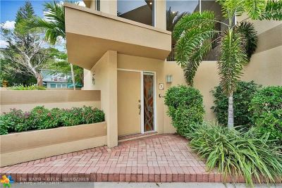 Fort Lauderdale Condo/Townhouse For Sale: 101 SE 15th Ave #H