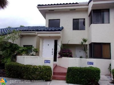 Plantation Condo/Townhouse For Sale: 8119 NW 17th Mnr #8119