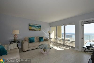 Pompano Beach Condo/Townhouse For Sale: 750 N Ocean Blvd #1803