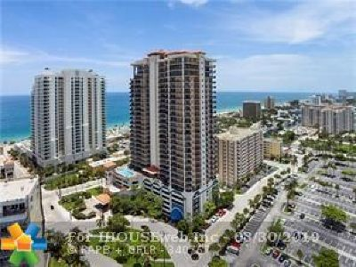 Fort Lauderdale Condo/Townhouse For Sale: 100 S Birch Rd #1702