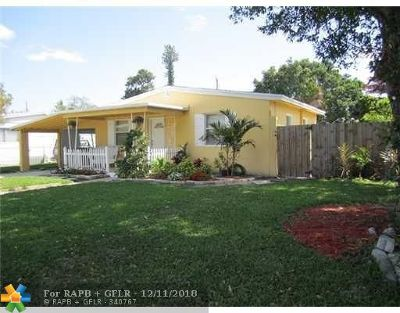 Fort Lauderdale FL Single Family Home For Sale: $262,900
