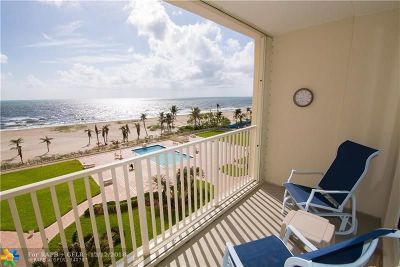 Pompano Beach Condo/Townhouse For Sale: 750 N Ocean Blvd #606
