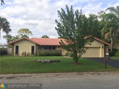 Coral Springs Single Family Home For Sale: 8825 NW 18th St