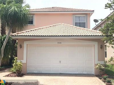 Coral Springs Rental For Rent: 9728 NW 1st Mnr