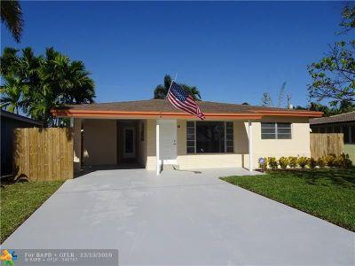 Oakland Park Single Family Home For Sale: 81 NE 47th St