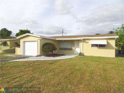 Lauderdale Lakes Single Family Home For Sale: 3523 NW 33rd Ct