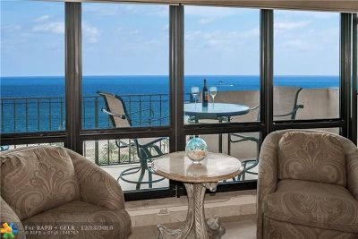 Lauderdale By The Sea Condo/Townhouse For Sale: 4900 N Ocean Blvd #1415